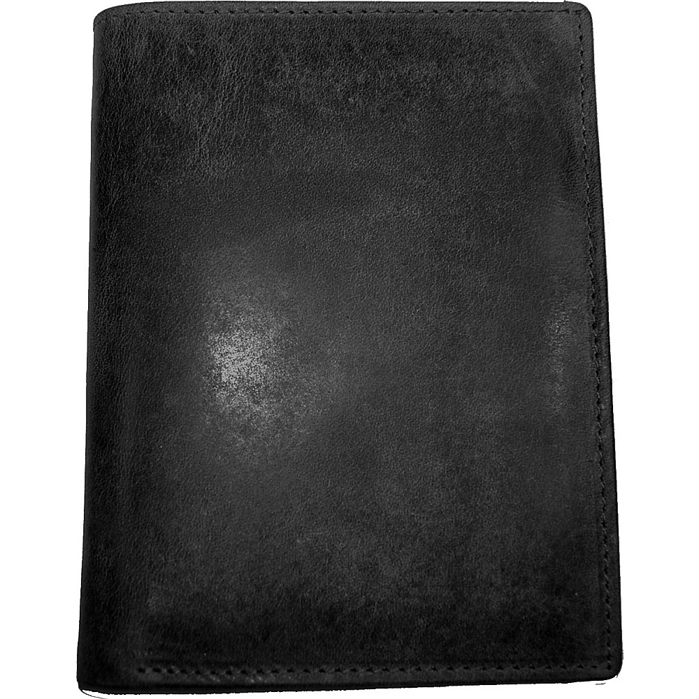 Budd Leather RFID Passport Case Black - Budd Leather Men's Wallets