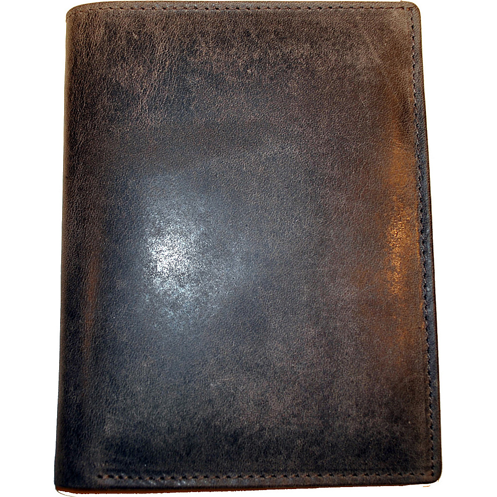 Budd Leather RFID Passport Case Brown - Budd Leather Men's Wallets