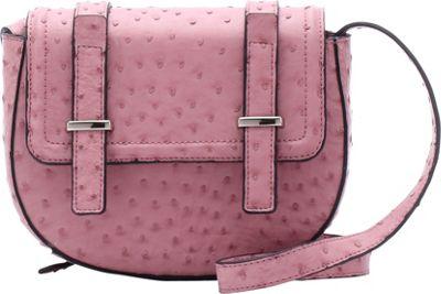 Emilie M Desi Crossbody Blush Ostrich - Emilie M Manmade Handbags