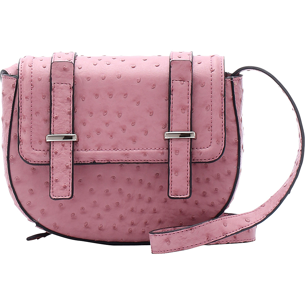 Emilie M Desi Crossbody Blush Ostrich Emilie M Manmade Handbags