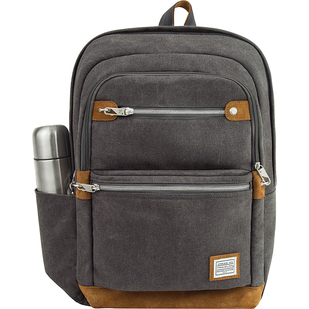 Travelon Anti-Theft Heritage Backpack Pewter - Travelon Business & Laptop Backpacks - Backpacks, Business & Laptop Backpacks