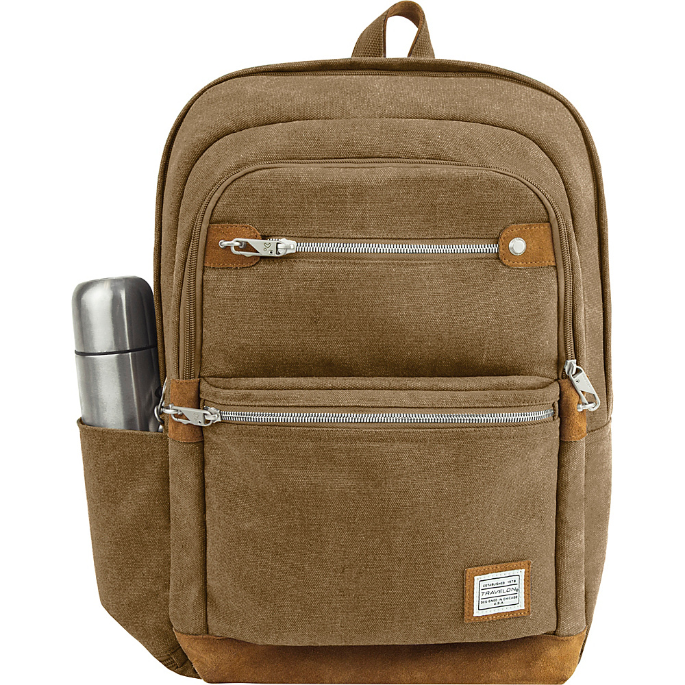 Travelon Anti-Theft Heritage Backpack Oatmeal - Travelon Business & Laptop Backpacks - Backpacks, Business & Laptop Backpacks