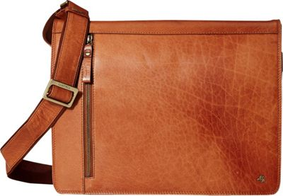 Visconti Buffalo Leather 13 inch Laptop Case Messenger Shoulder Bag Tan - Visconti Other Men's Bags