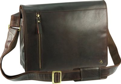 Visconti Buffalo Leather 13 inch Laptop Case Messenger Shoulder Bag Brown - Visconti Other Men's Bags