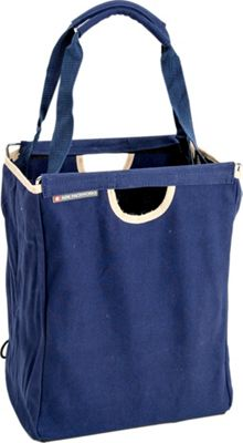 Image of ADK Packworks Packbasket Canvas 17-Blue Cotton - ADK Packworks Lightweight packable expandable bags