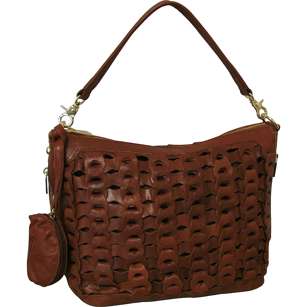 AmeriLeather Dixie Leather Handbag Brown - AmeriLeather Leather Handbags - Handbags, Leather Handbags