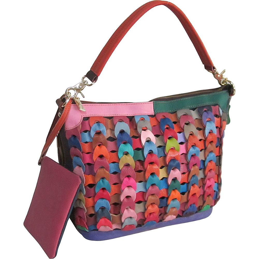 AmeriLeather Dixie Leather Handbag Rainbow - AmeriLeather Leather Handbags - Handbags, Leather Handbags