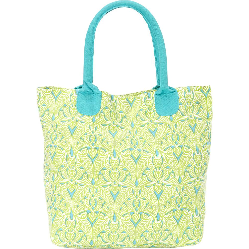 Needham Lane Market Tote Clare Lime - Needham Lane Fabric Handbags