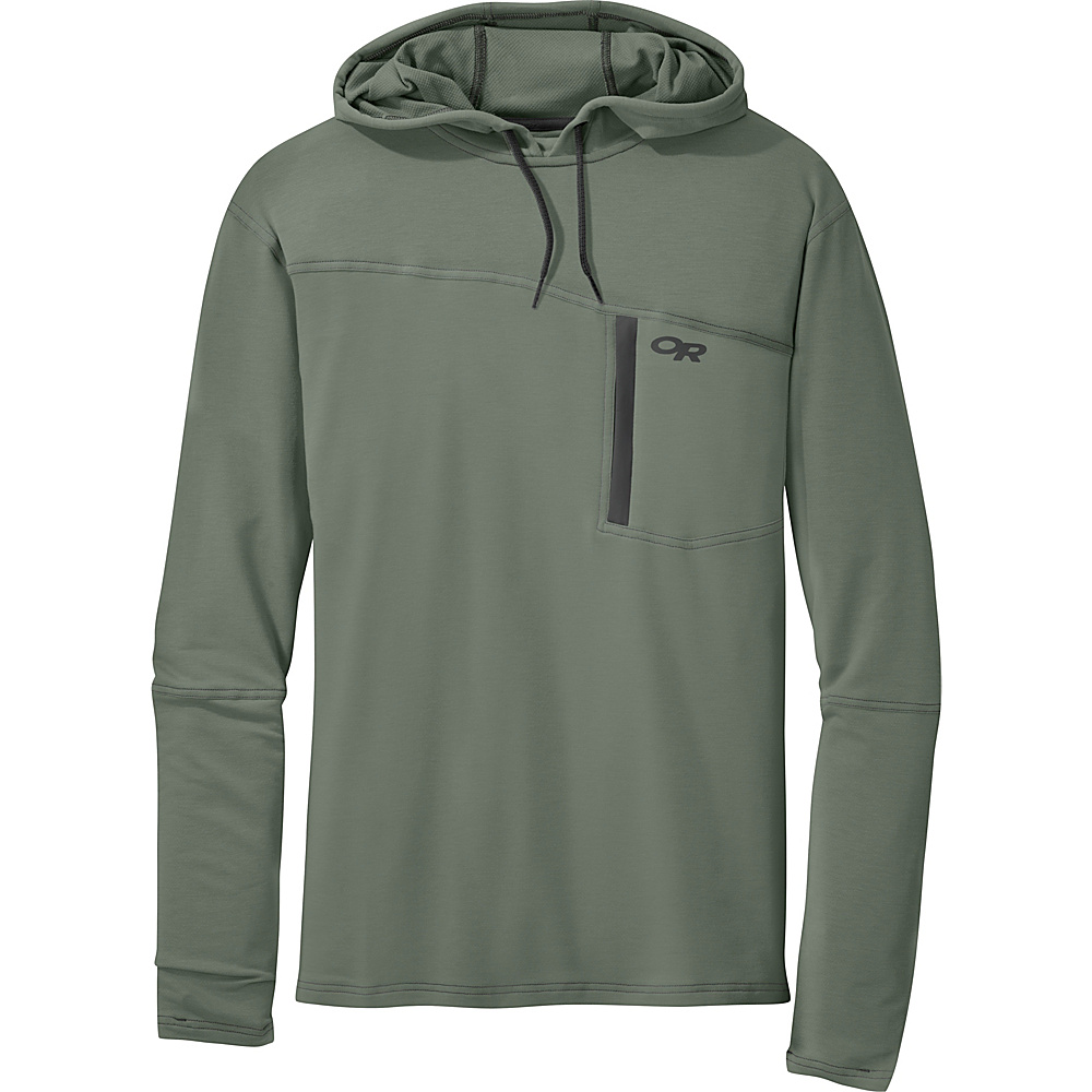 Outdoor Research Mens Ensenada Hoody S - Sage - Outdoor Research Mens Apparel - Apparel & Footwear, Men's Apparel
