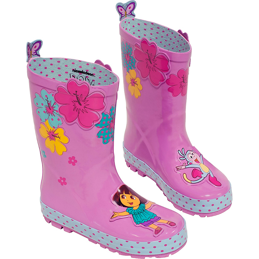 Kidorable Dora Rain Boots 1 (US Kids) - M (Regular/Medium) - Pink - Kidorable Womens Footwear - Apparel & Footwear, Women's Footwear