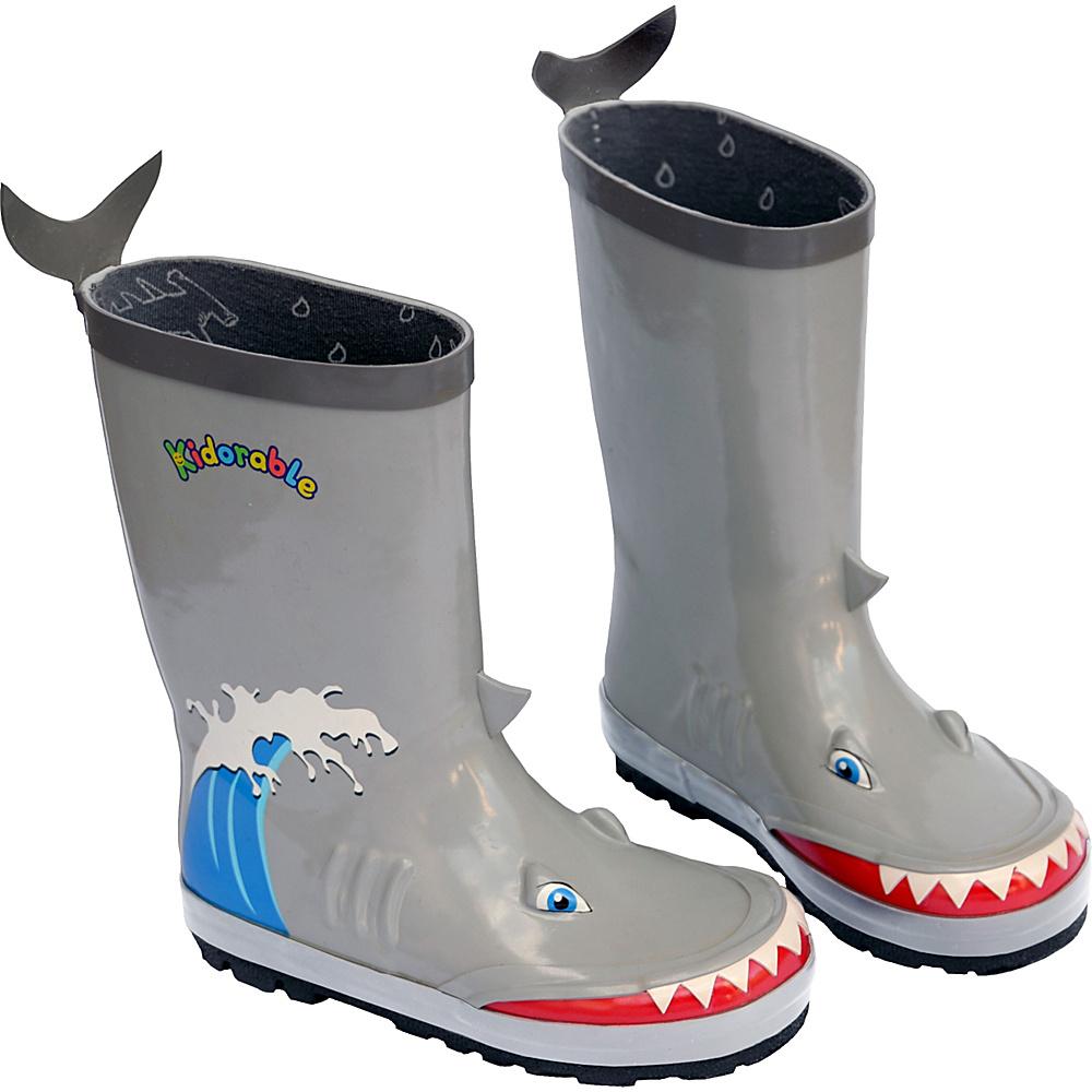 Kidorable Shark Rain Boots 12 (US Kids) - M (Regular/Medium) - Grey - Kidorable Mens Footwear - Apparel & Footwear, Men's Footwear
