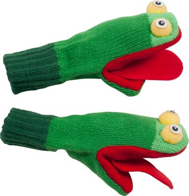 Kidorable Frog Knit Mittens S - Green - Kidorable Hats/Gloves/Scarves