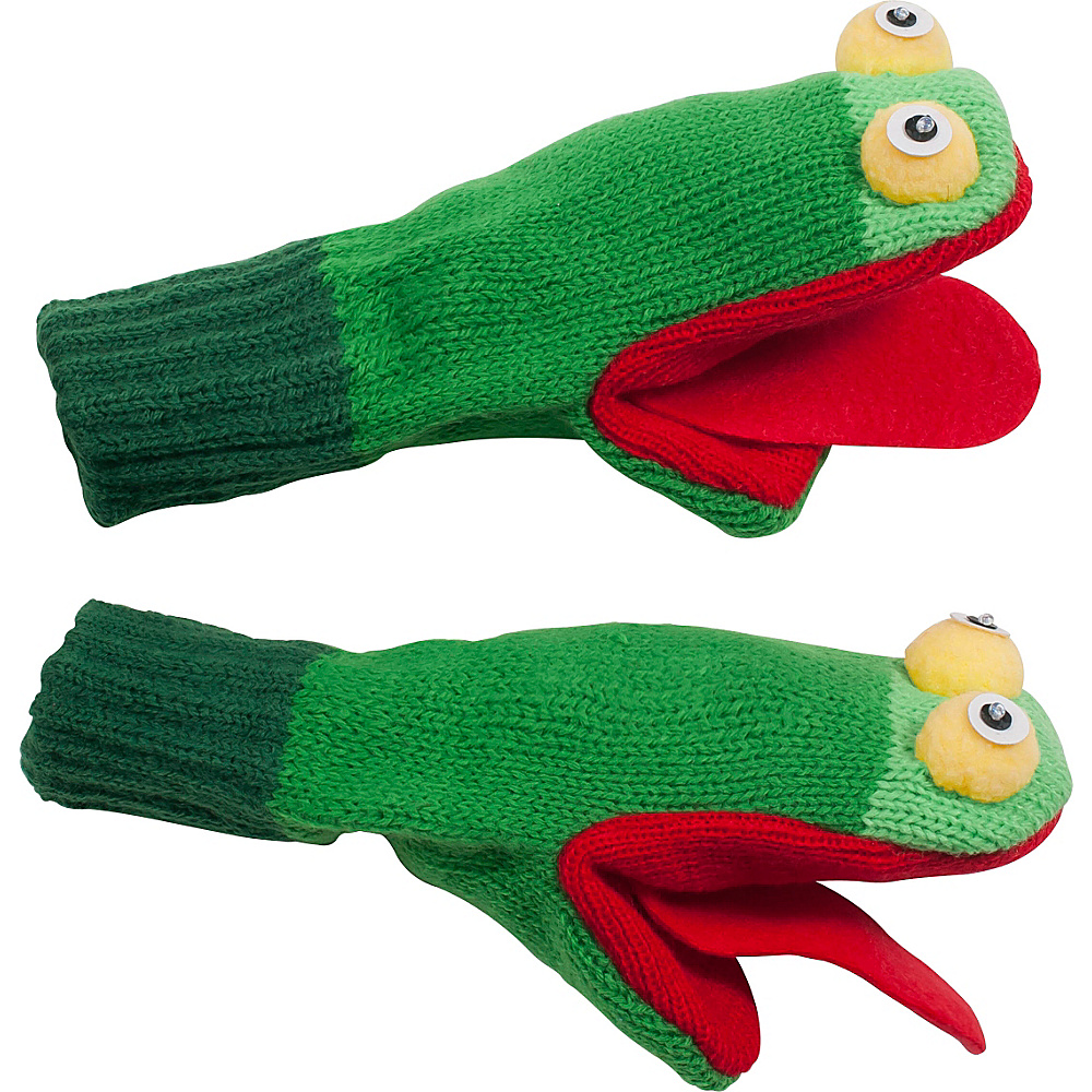 Kidorable Frog Knit Mittens Green Large Kidorable Hats Gloves Scarves