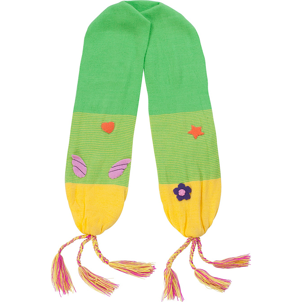 Kidorable Fairy Knit Scarf Green One Size Kidorable Hats Gloves Scarves