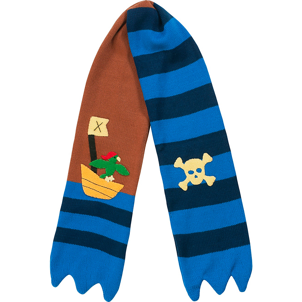 Kidorable Pirate Knit Scarf Brown One Size Kidorable Hats Gloves Scarves