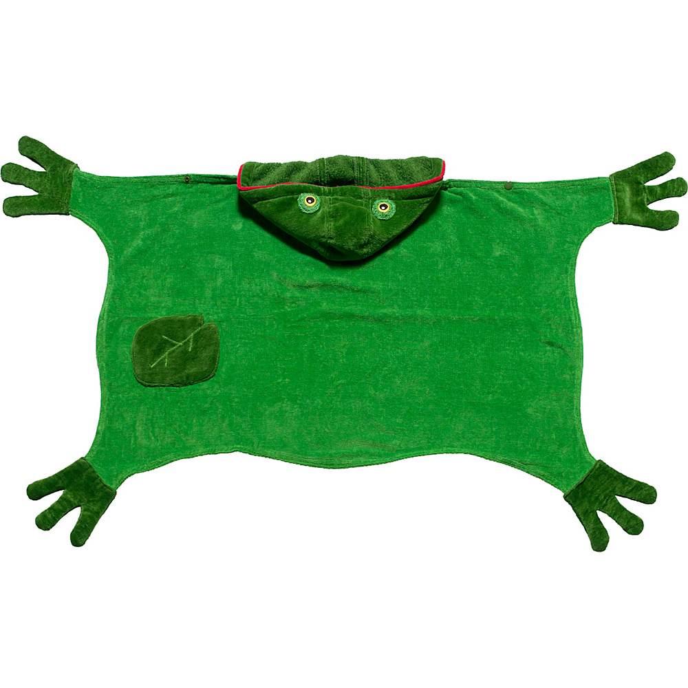Kidorable Frog Hooded Towel Green - Medium - Kidorable Travel Health & Beauty - Travel Accessories, Travel Health & Beauty