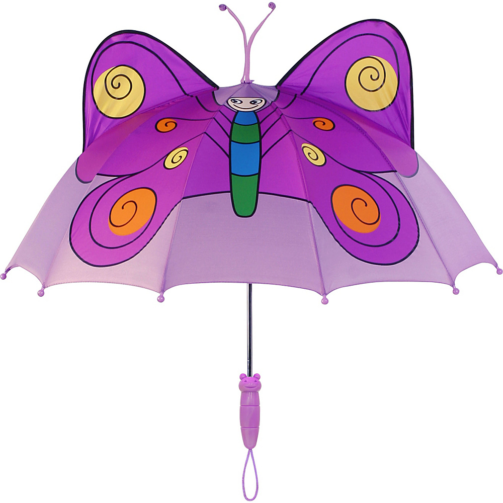 Kidorable Butterfly Umbrella Purple - One Size - Kidorable Umbrellas and Rain Gear - Fashion Accessories, Umbrellas and Rain Gear