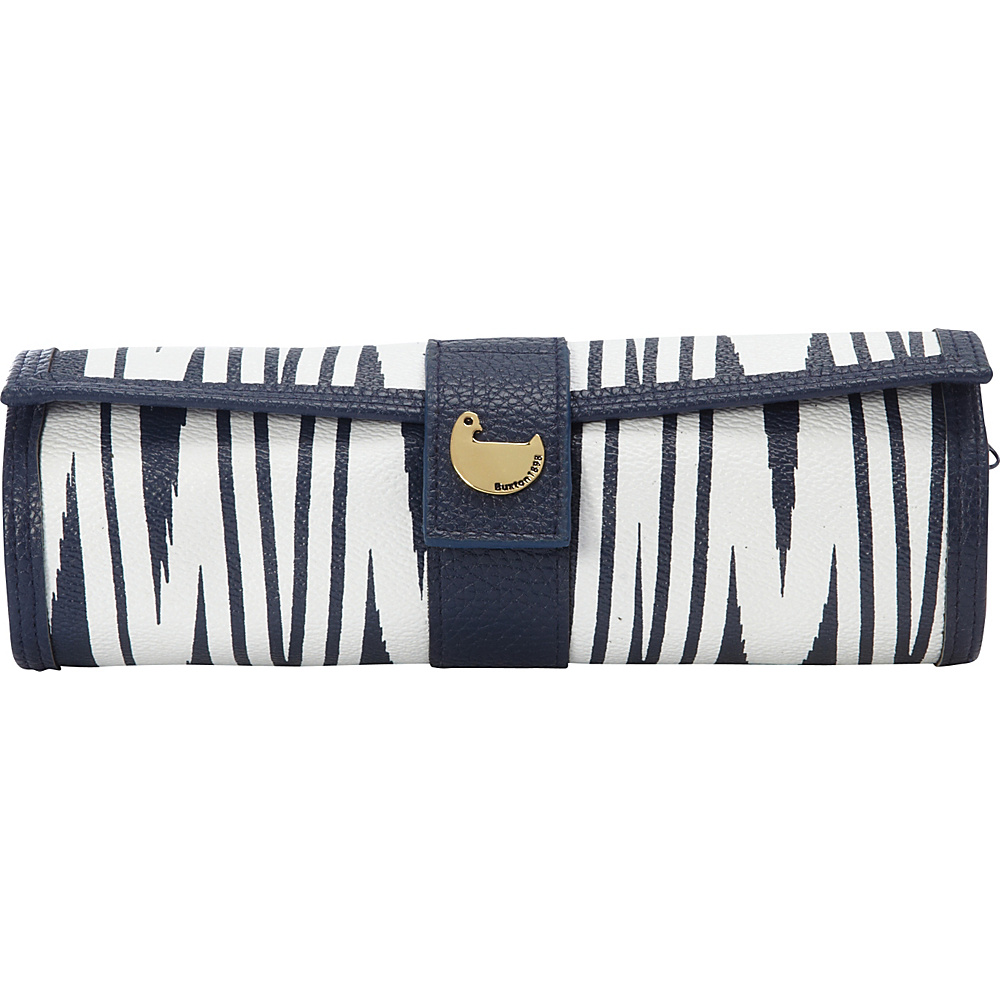Buxton Chevron Travel Collection Cosmetic/Jewelry Roll Navy - Buxton Travel Organizers - Travel Accessories, Travel Organizers