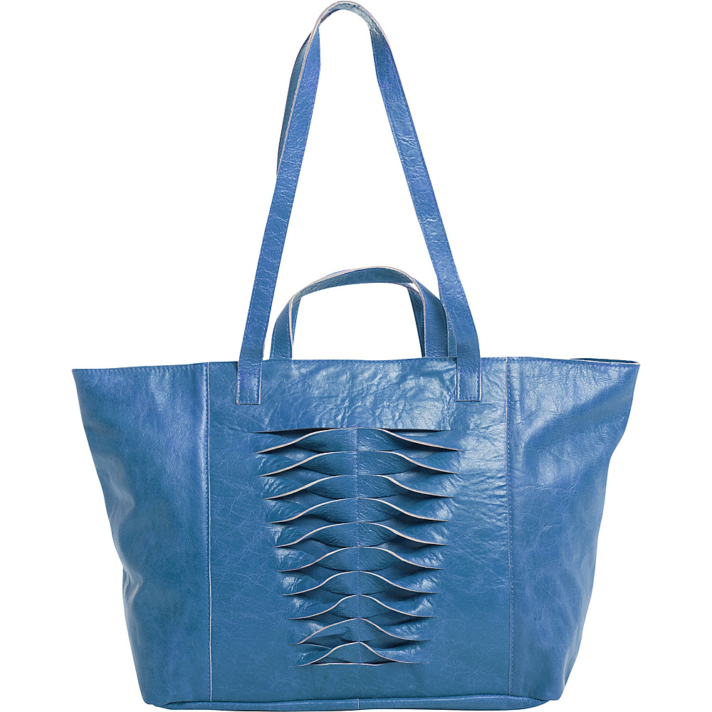 Latico Leathers Hawkin Tote Crinkle Blue - Latico Leathers Leather Handbags - Handbags, Leather Handbags