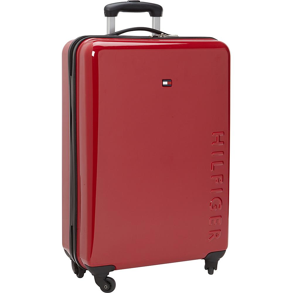 Tommy Hilfiger Luggage Bristol 25 Hardside Upright Spinner Red Tommy Hilfiger Luggage Hardside Checked