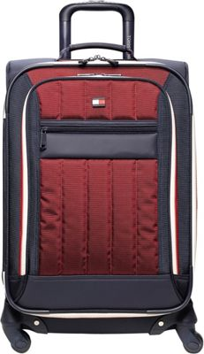 Tommy Hilfiger Luggage Classic Sport 25 inch Exp. Upright Navy/Burgundy - Tommy Hilfiger Luggage Softside Checked