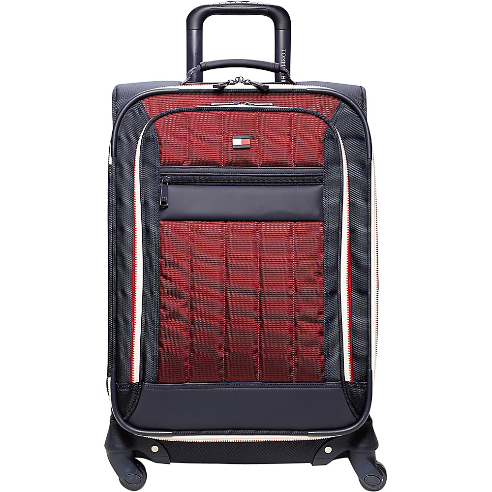 Tommy Hilfiger Luggage Classic Sport 25 Exp. Upright Navy Burgundy Tommy Hilfiger Luggage Softside Checked