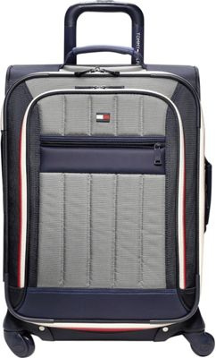 Tommy Hilfiger Luggage Classic Sport 25 inch Exp. Upright Navy/Grey - Tommy Hilfiger Luggage Softside Checked