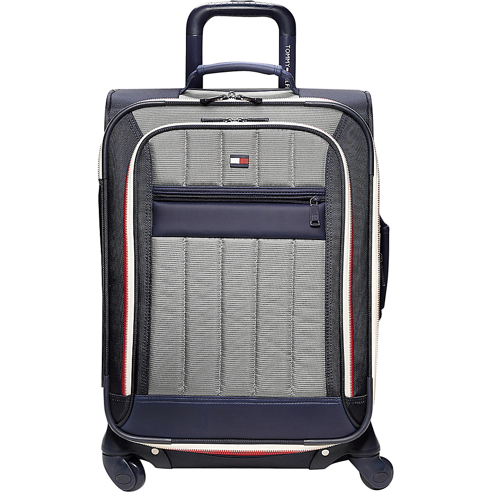 Tommy Hilfiger Luggage Classic Sport 25 Exp. Upright Navy Grey Tommy Hilfiger Luggage Softside Checked
