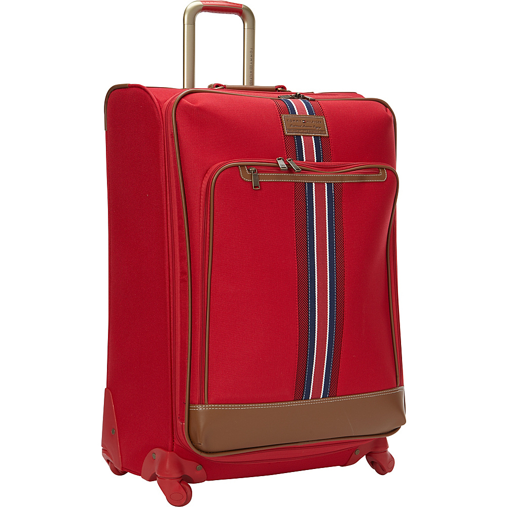 Tommy Hilfiger Luggage Nantucket 28 Exp. Upright Spinner Red Tommy Hilfiger Luggage Softside Checked