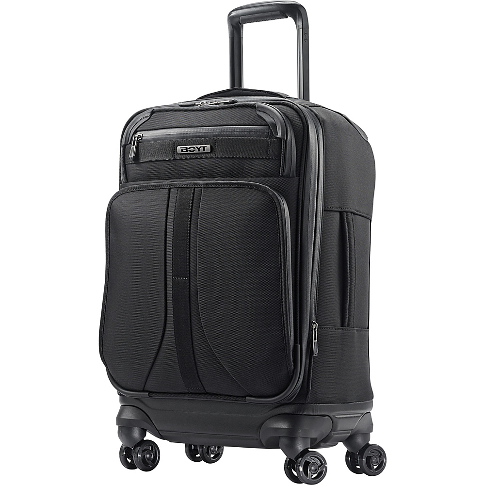 "Boyt Mach 1 Softside Spinner 21"" Deep Black - Boyt Small Rolling Luggage"