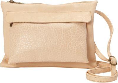 nu G Square Cross Body With Front Pocket Cream - nu G Manmade Handbags