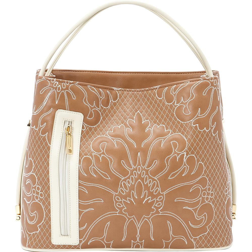 Samoe Tote Convertible Handbag Desert Sand Cream Trapunto Cream TO Samoe Manmade Handbags