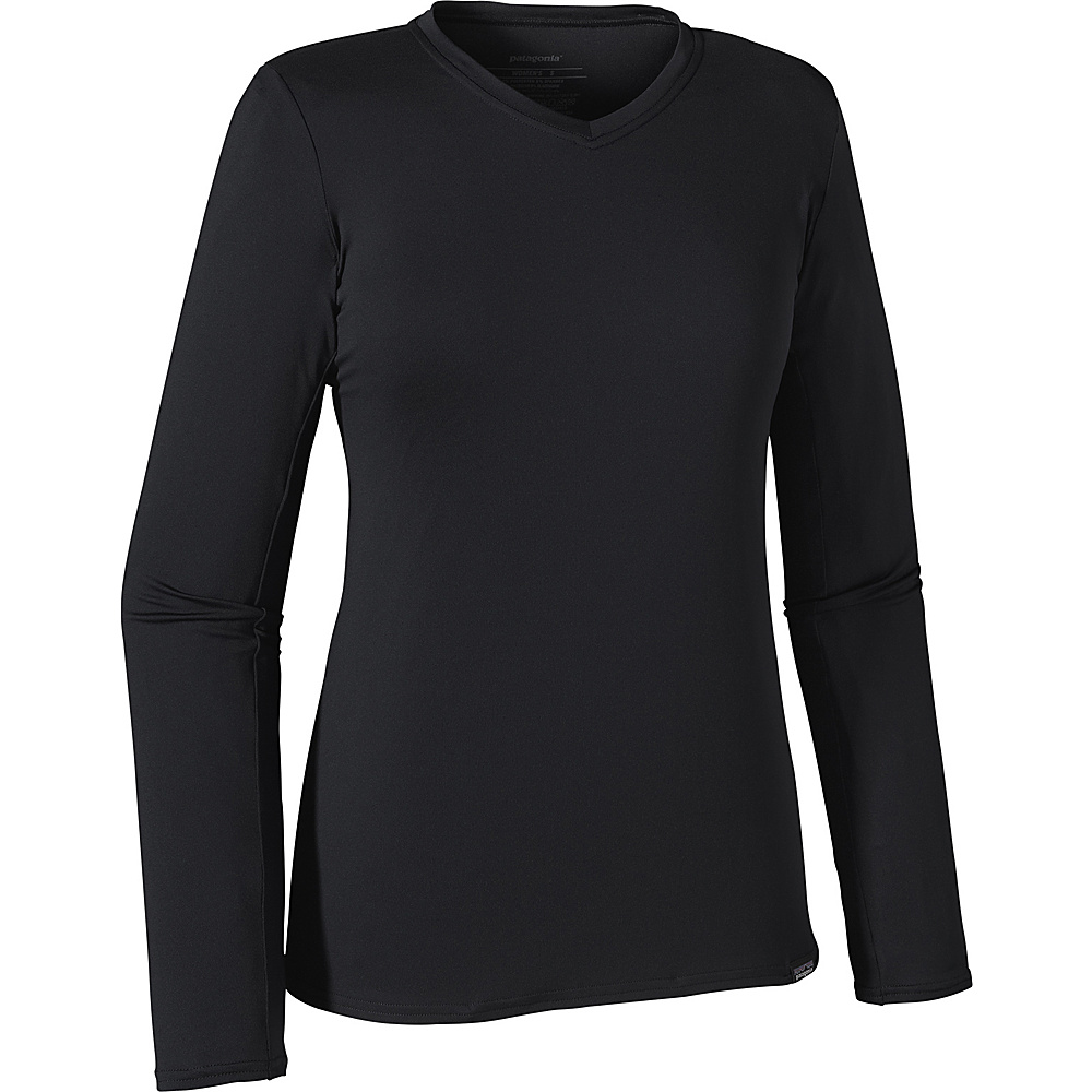 Patagonia Womens Long Sleeve Capilene Daily T Shirt S Black Patagonia Women s Apparel