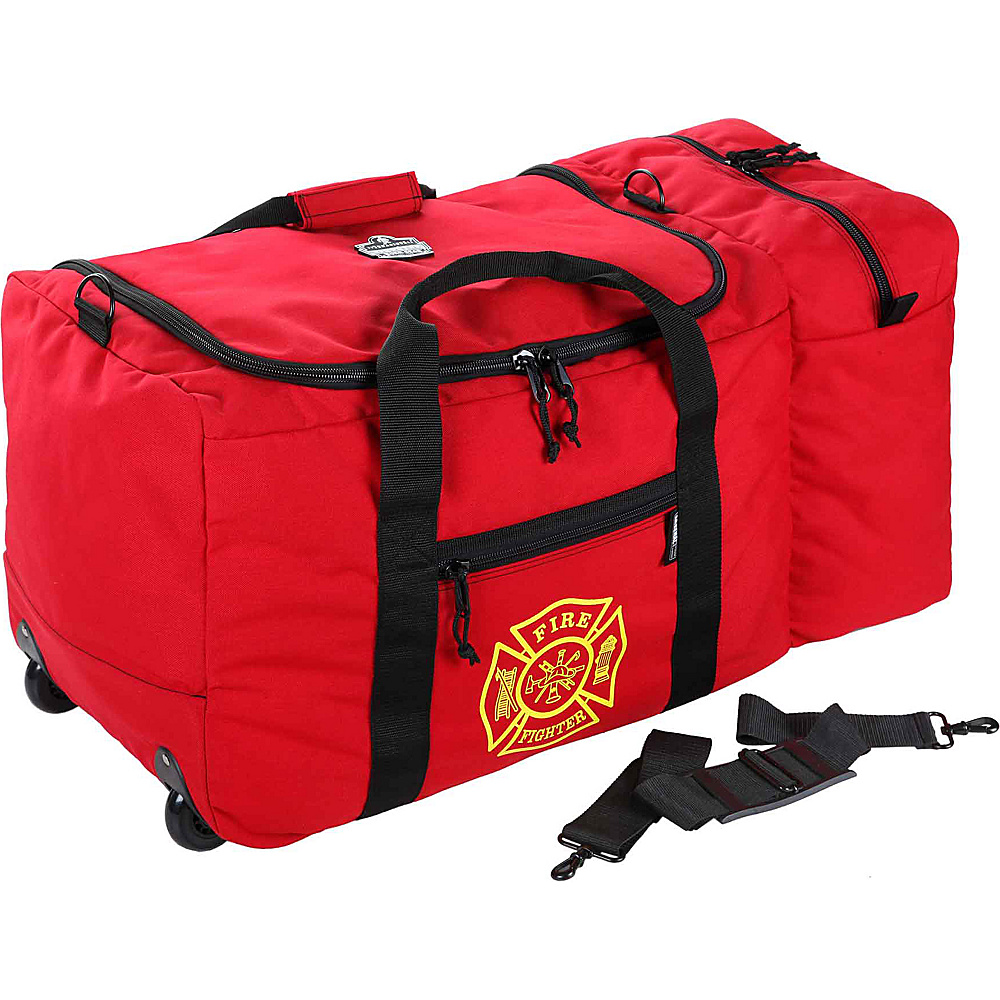 Ergodyne GB5005W Wheeled F R Gear Bag Red Ergodyne Outdoor Duffels