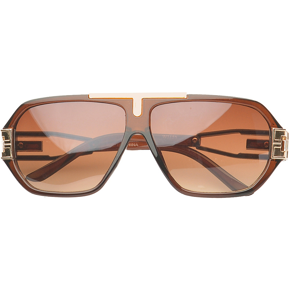 SW Global Eyewear Downey Rectangle Fashion Sunglasses Brown - SW Global Sunglasses - Fashion Accessories, Sunglasses