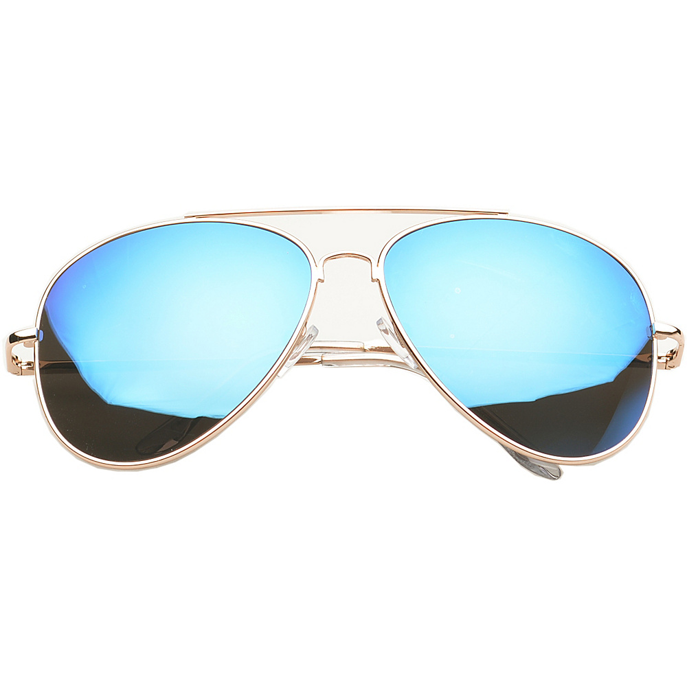 SW Global Eyewear Knoxville Double Bridge Aviator Fashion Sunglasses Blue - SW Global Sunglasses - Fashion Accessories, Sunglasses