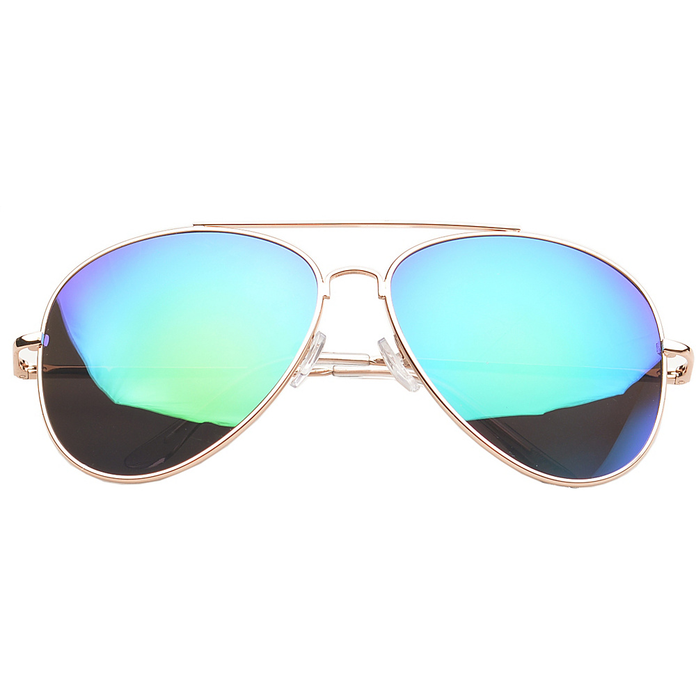SW Global Eyewear Knoxville Double Bridge Aviator Fashion Sunglasses Green - SW Global Sunglasses - Fashion Accessories, Sunglasses