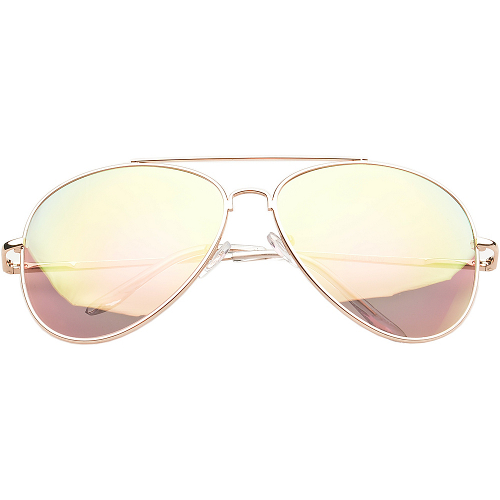 SW Global Eyewear Knoxville Double Bridge Aviator Fashion Sunglasses Pink - SW Global Sunglasses - Fashion Accessories, Sunglasses
