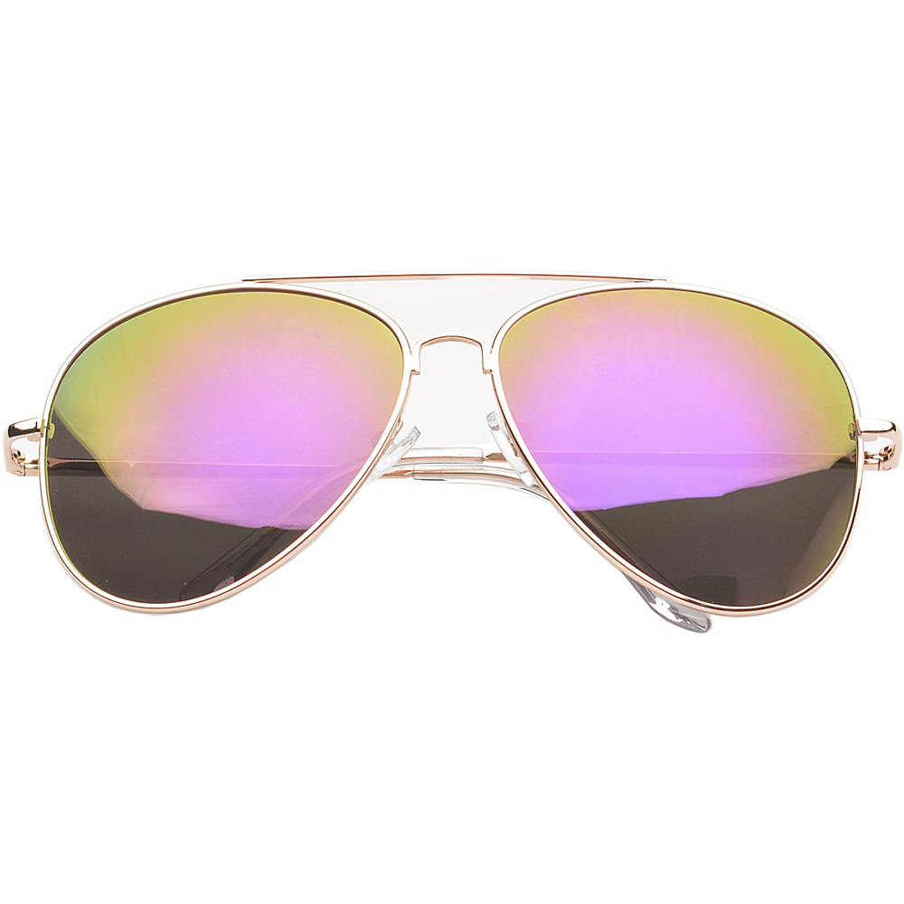 SW Global Eyewear Knoxville Double Bridge Aviator Fashion Sunglasses Purple - SW Global Sunglasses - Fashion Accessories, Sunglasses
