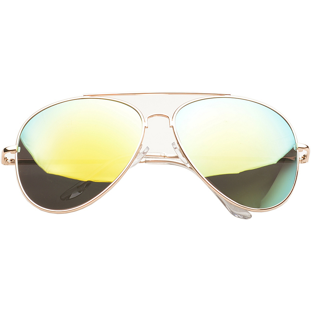 SW Global Eyewear Knoxville Double Bridge Aviator Fashion Sunglasses Yellow - SW Global Sunglasses - Fashion Accessories, Sunglasses