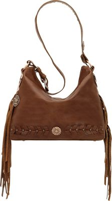 American West River Ranch Slouch Zip Top Shoulder Bag Tobacco - American West Leather Handbags