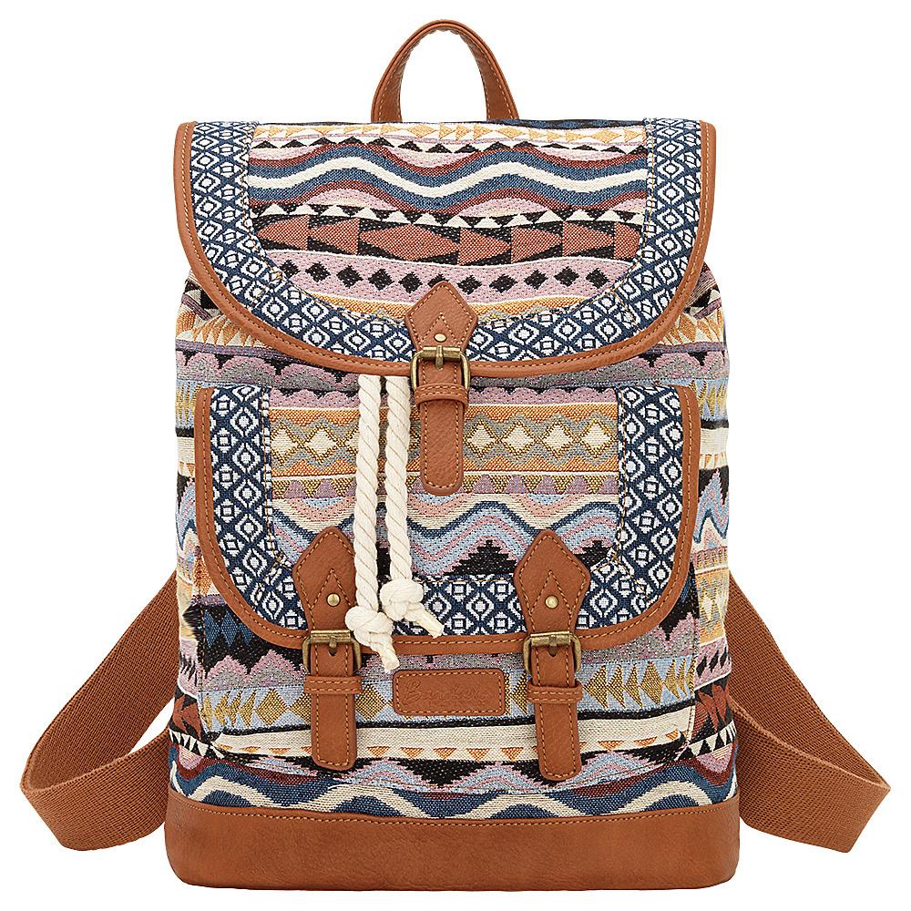 Bandana Santa Fe Back Pack Multi Color Tan Bandana Manmade Handbags