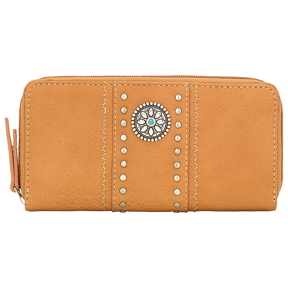 Bandana Rio Rancho Zip Around Wallet Tan Bandana Women s Wallets