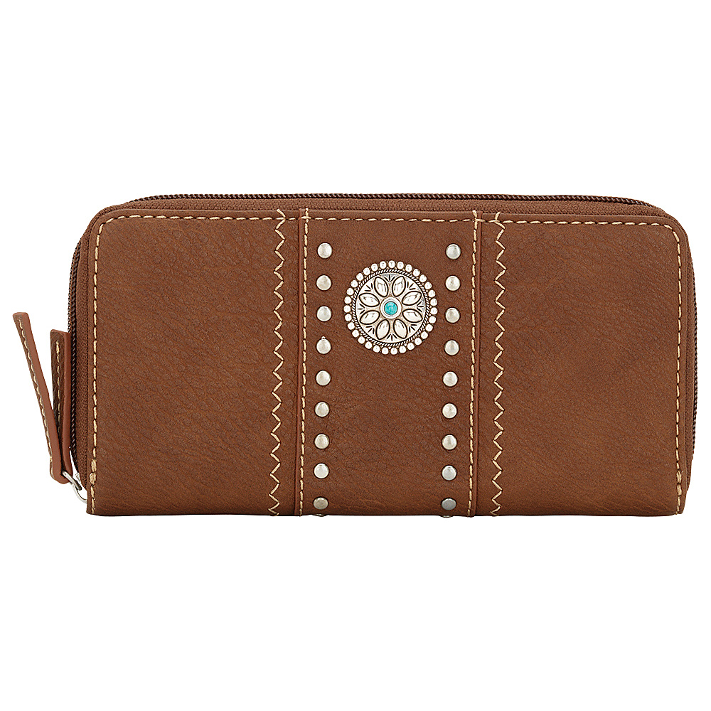 Bandana Rio Rancho Zip Around Wallet Brown Bandana Women s Wallets