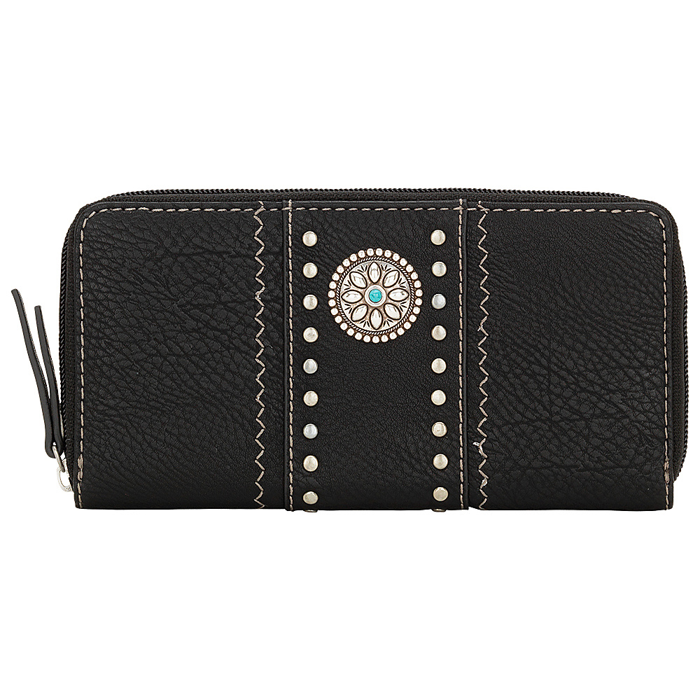 Bandana Rio Rancho Zip Around Wallet Black Bandana Women s Wallets