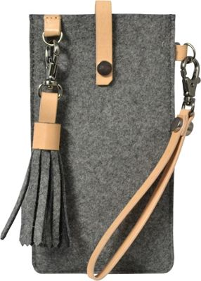 Sherpani Livi Wool & Leather Large Phone Case Chai - Sherpani Electronic Cases