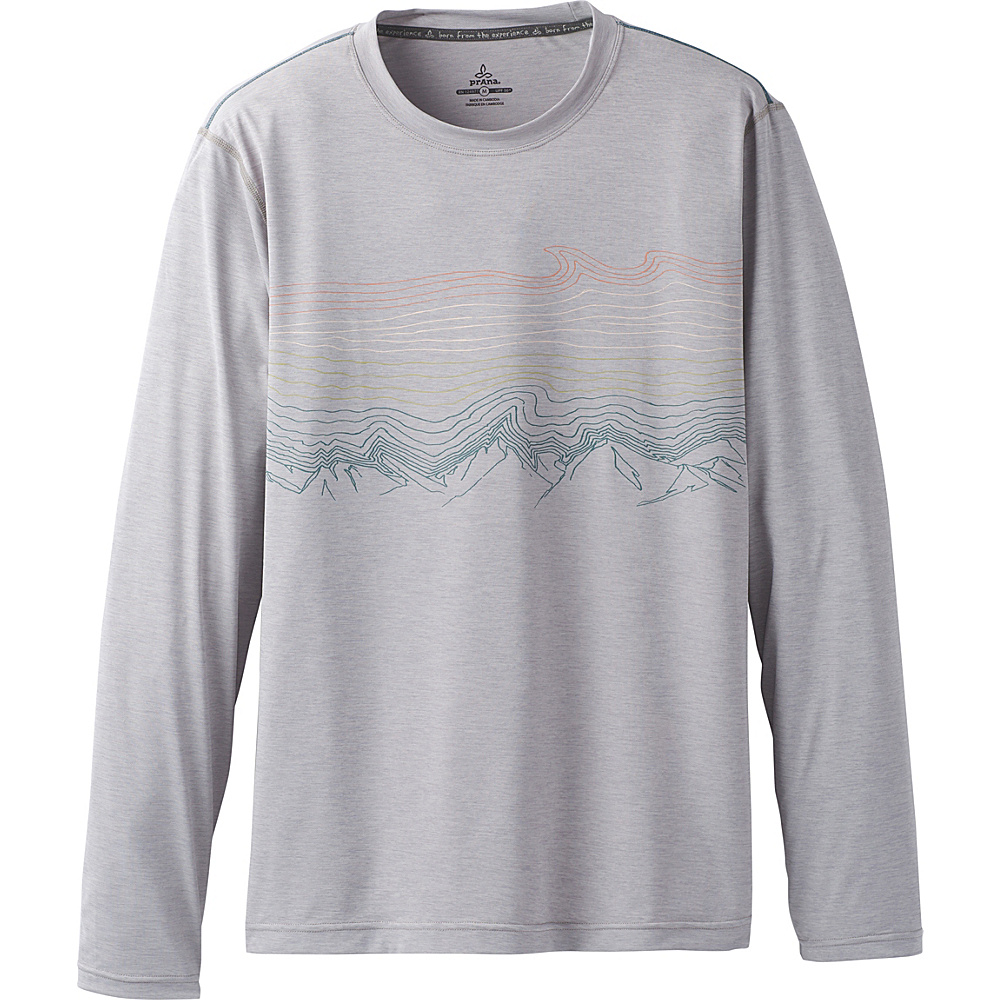 PrAna Calder Long Sleeve Shirt XXL - Titanium Grey - PrAna Mens Apparel - Apparel & Footwear, Men's Apparel