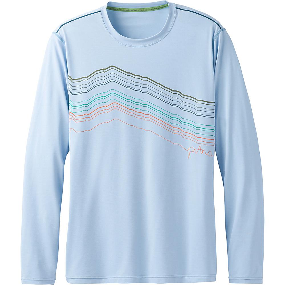 PrAna Calder Long Sleeve Shirt XXL - Blue Marble - PrAna Mens Apparel - Apparel & Footwear, Men's Apparel