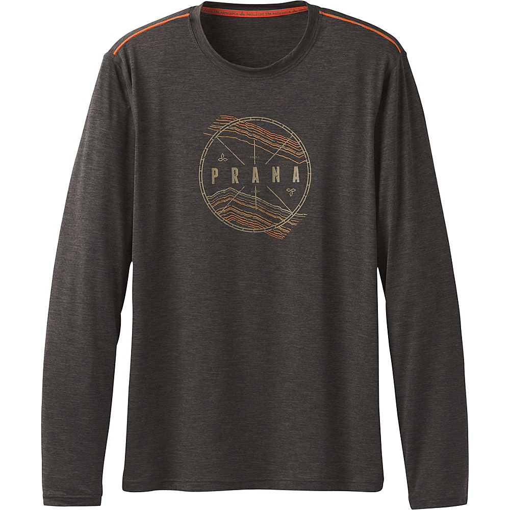PrAna Calder Long Sleeve Shirt M - Charcoal - PrAna Mens Apparel - Apparel & Footwear, Men's Apparel