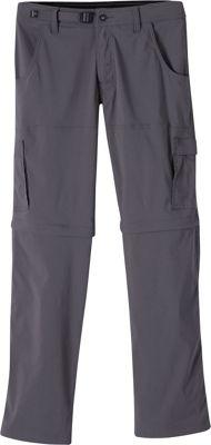 PrAna Stretch Zion Convertible Pants - 32 inch Inseam 32 - Charcoal - PrAna Men's Apparel